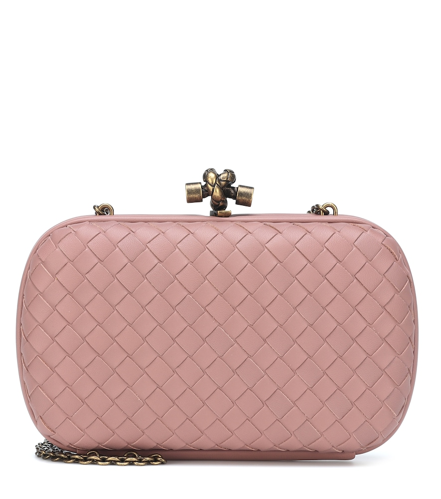 Chain Knot Intrecciato Clutch in Pink