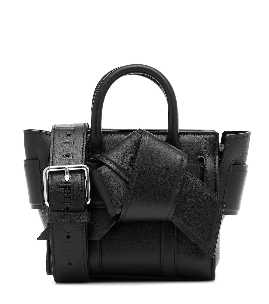 Acne Studios & Mulberry X Mulberry Micro Bayswater Musubi Leather Tote In Black