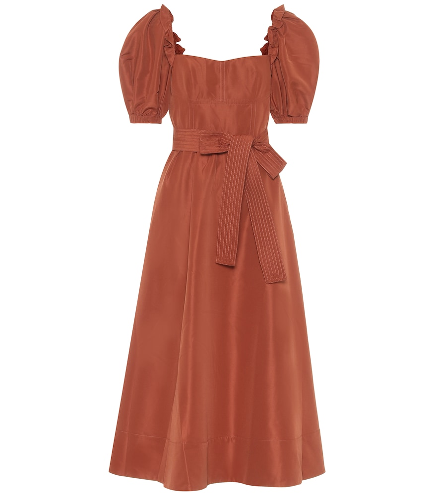 Taffeta midi dress