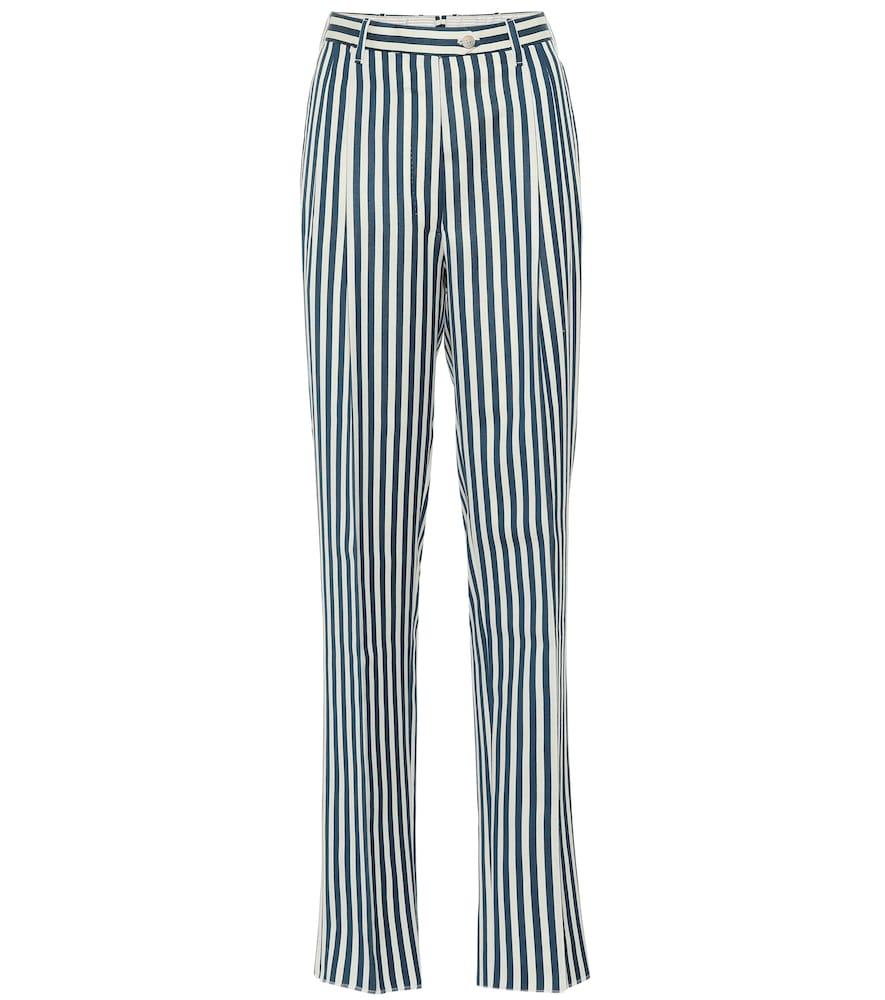 Pantalon The Stella en laine rayée