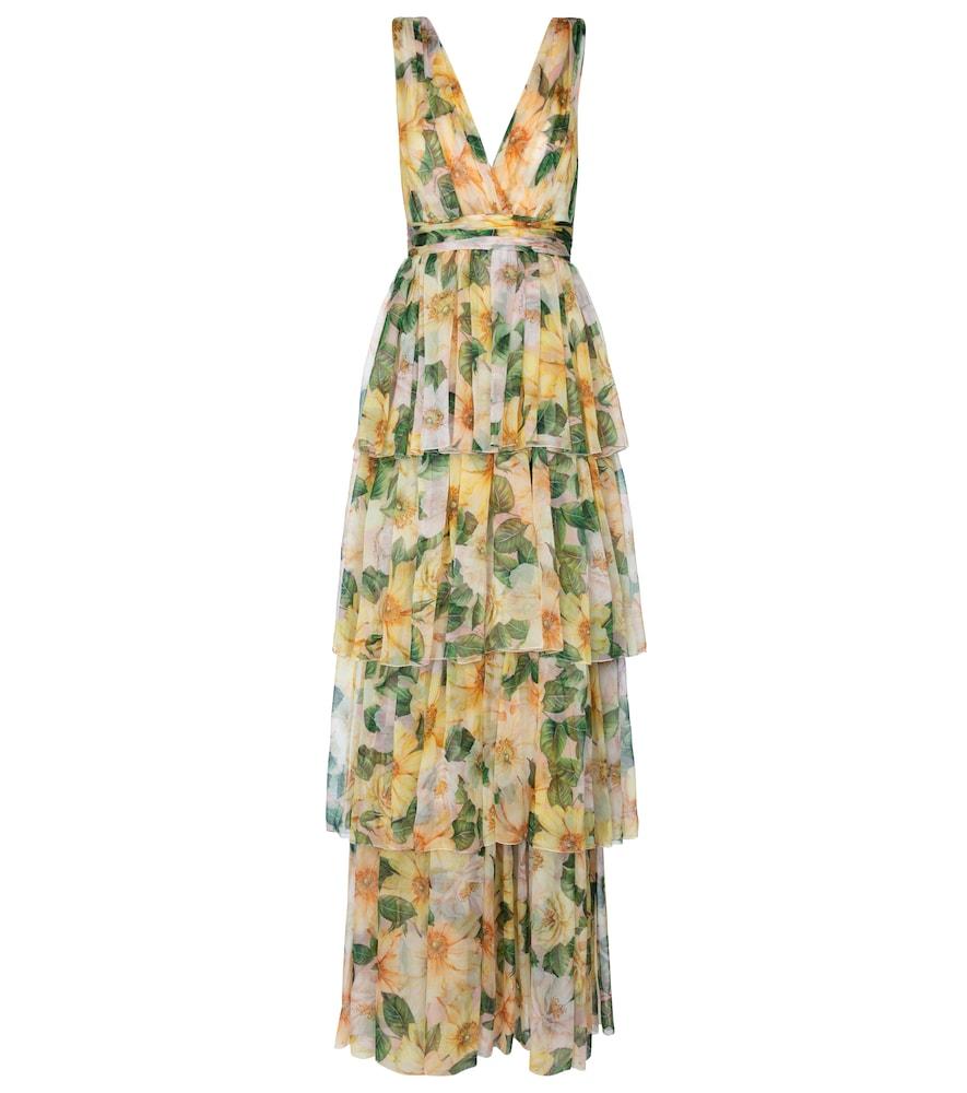 Floral silk chiffon gown by Dolce & Gabbana