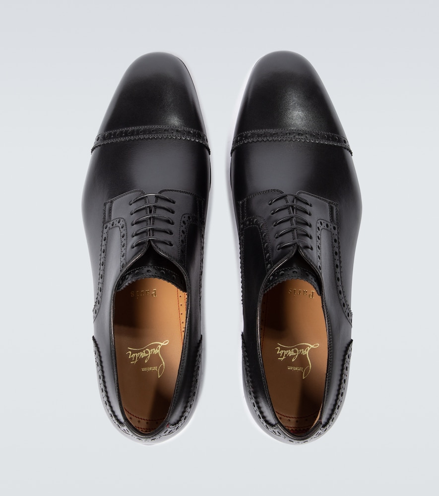 CHRISTIAN LOUBOUTIN Leathers EYGENY FLAT LEATHER DERBY SHOES