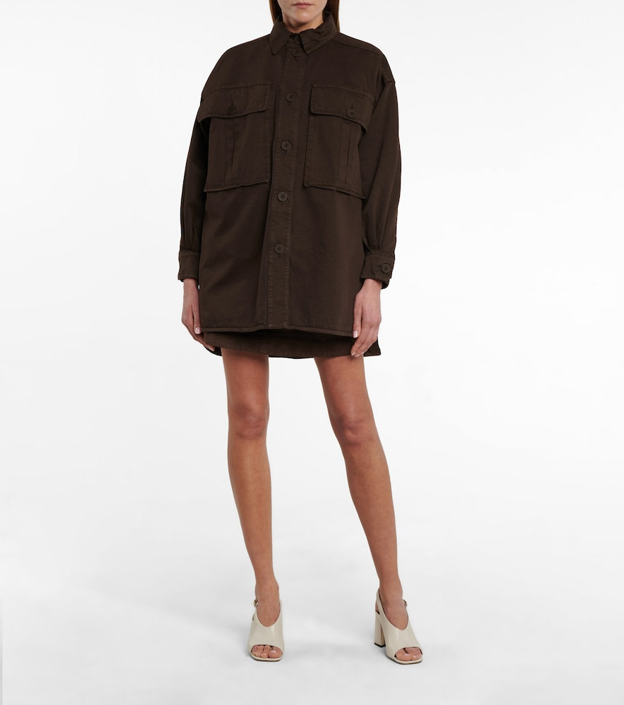 SEE BY CHLOÉ Cottons OVERSIZED SHIRT JACKET
