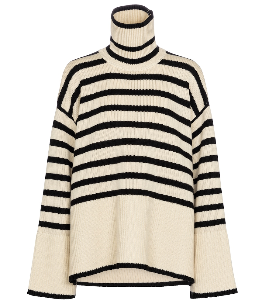 Totême STRIPED WOOL AND COTTON SWEATER