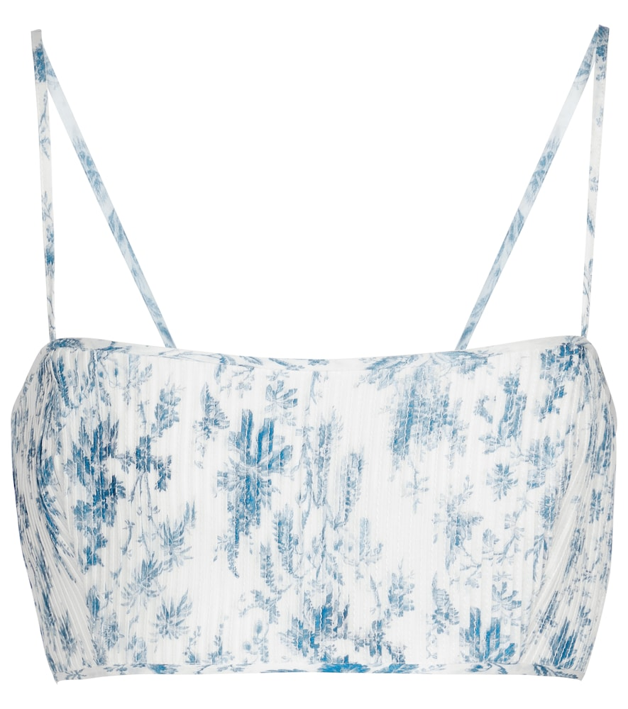 Exclusive to Mytheresa - Clementine cotton and silk crop top