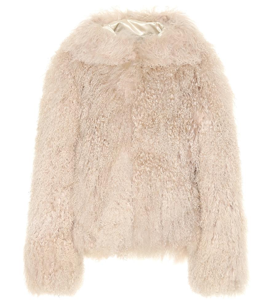 Manteau à capuche en shearling