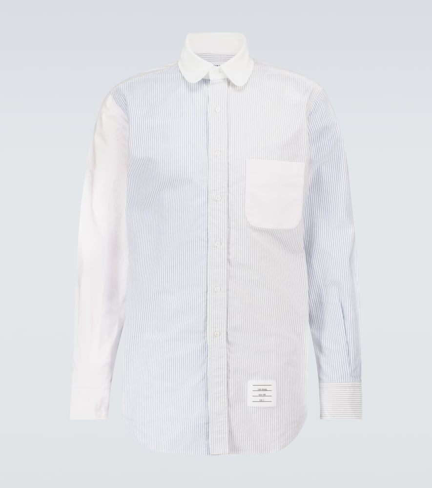 Thom Browne Fun-mix Long-sleeved Striped Shirt In Multicoloured