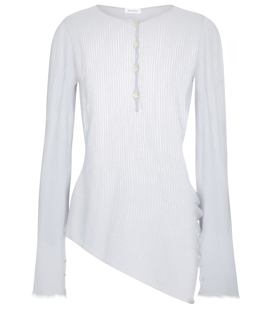 Acne Studios Sheer ribbed-knit sweater
