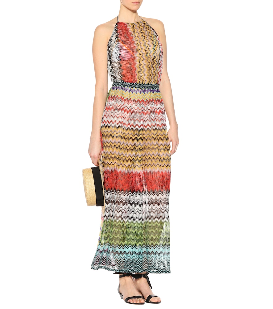 Knitted striped dress by Missoni Mare