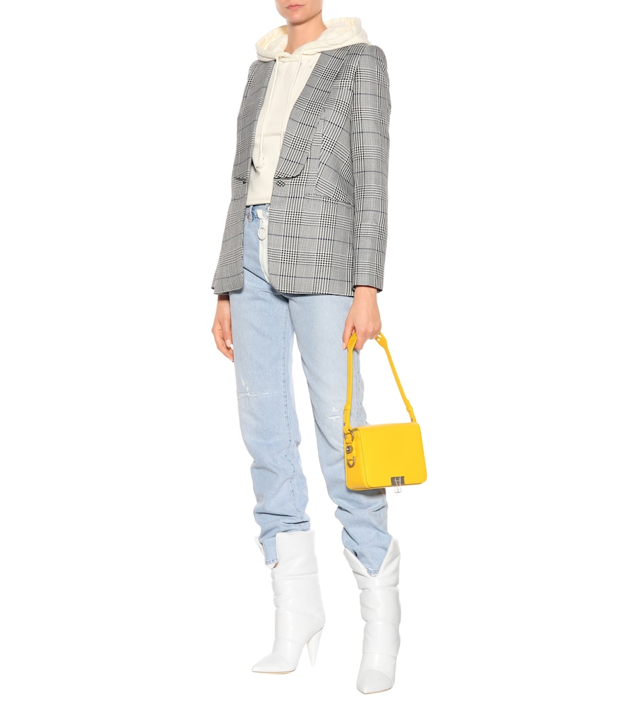 x Off-White Sara 100 leather boots by Jimmy Choo