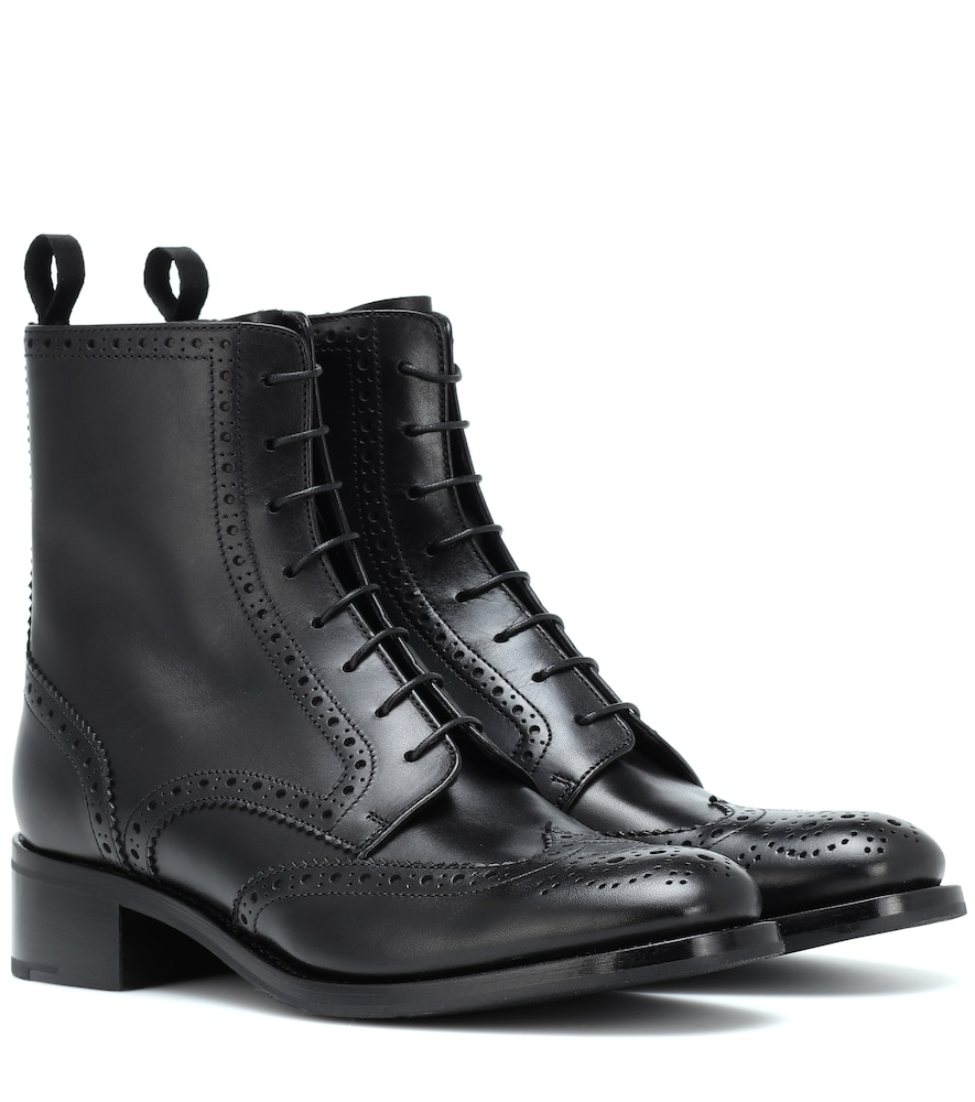 Sylvie Leather Ankle Boots, Black