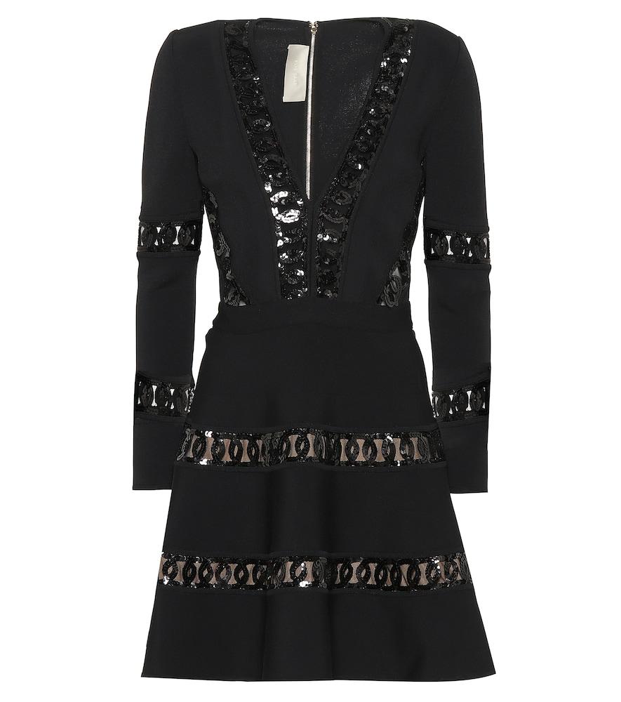 Elie Saab SEQUIN AND JERSEY DRESS