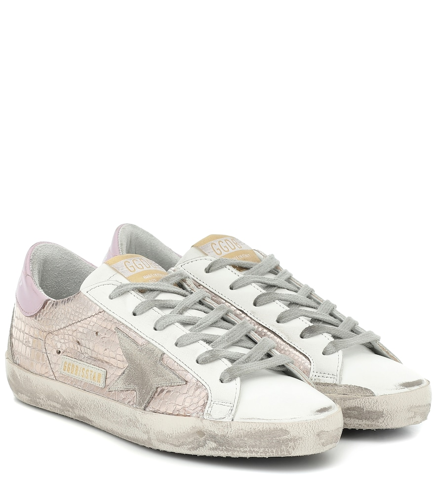 Superstar croc-effect sneakers