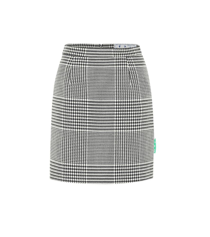 Mini-jupe à taille haute et carreaux - Off-White - Modalova