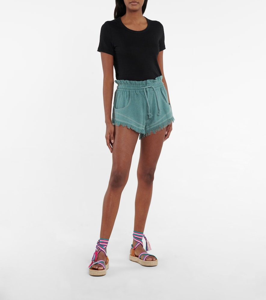 ISABEL MARANT ÉTOILE Silks TALAPIZ HIGH-RISE SILK SHORTS