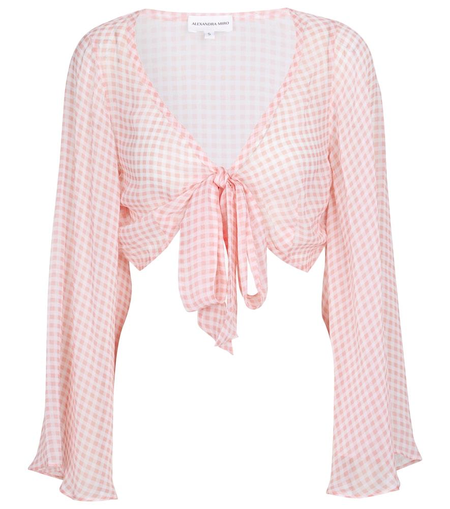 Alexandra Miro Exclusive To Mytheresa - Natalia Gingham Crop Top In Pink