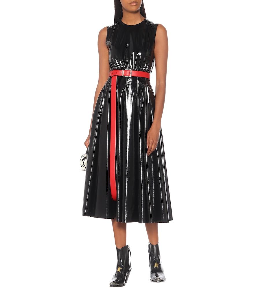 Faux leather midi dress by MSGM