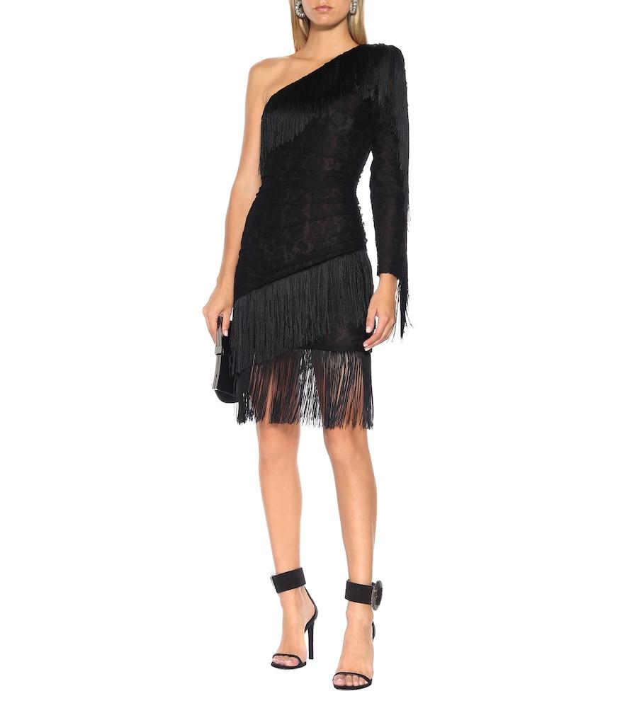 Fringed lace minidress by Dundas