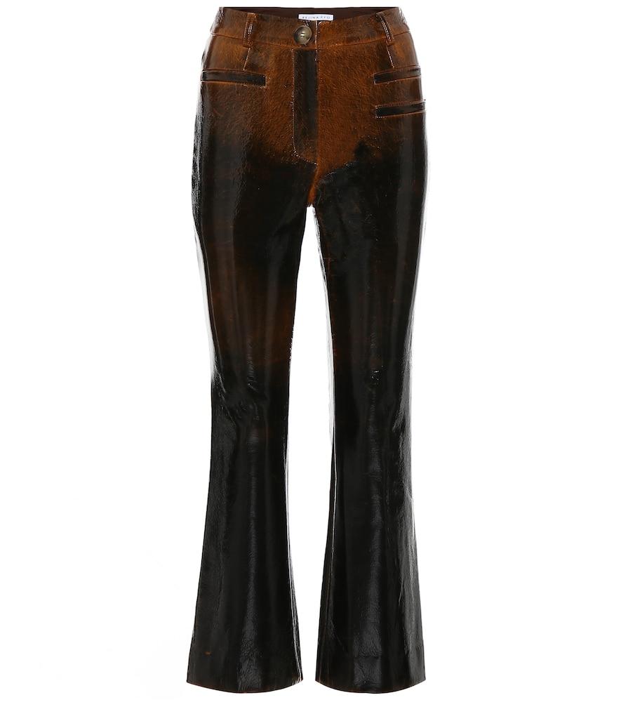 Pantalon Maeve en laine mélangée enduite
