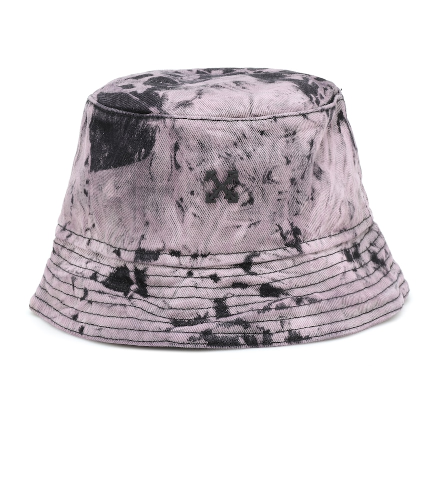 Logo denim bucket hat