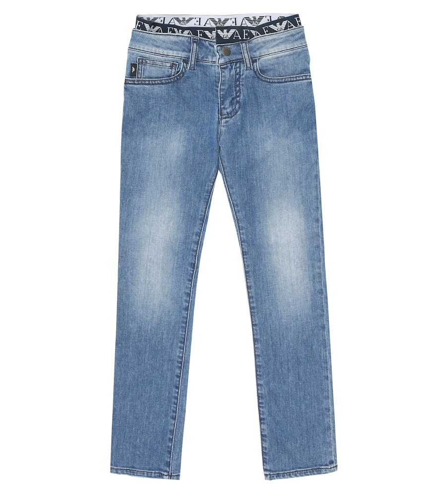 Emporio Armani Cottons LOGO STRETCH-COTTON JEANS