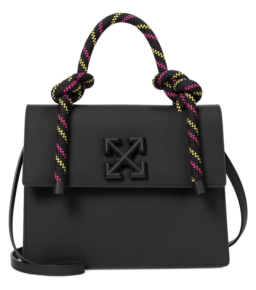 Off-white Jitney 2.8 Leather Shoulder Bag In Black