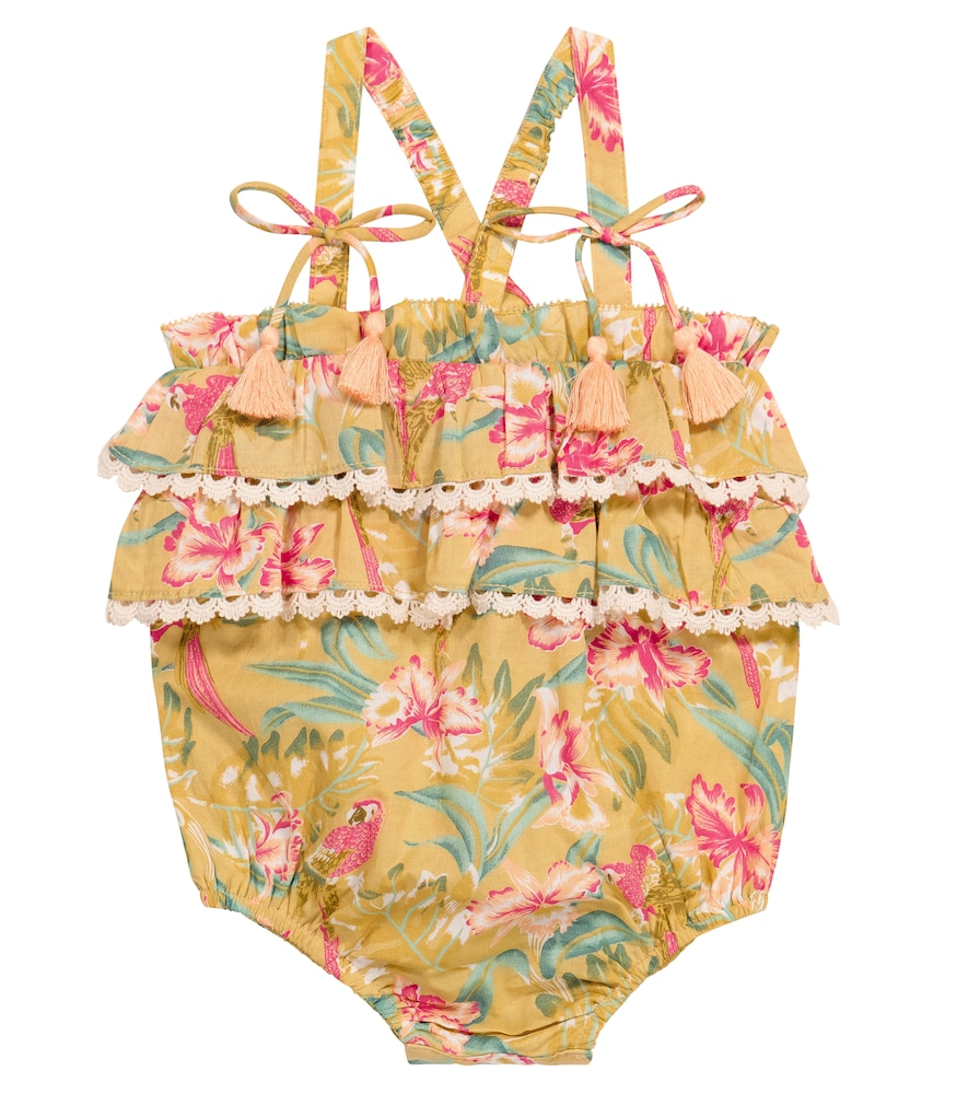 Louise Misha Climbing clotheses BABY KUMAL FLORAL COTTON ROMPER
