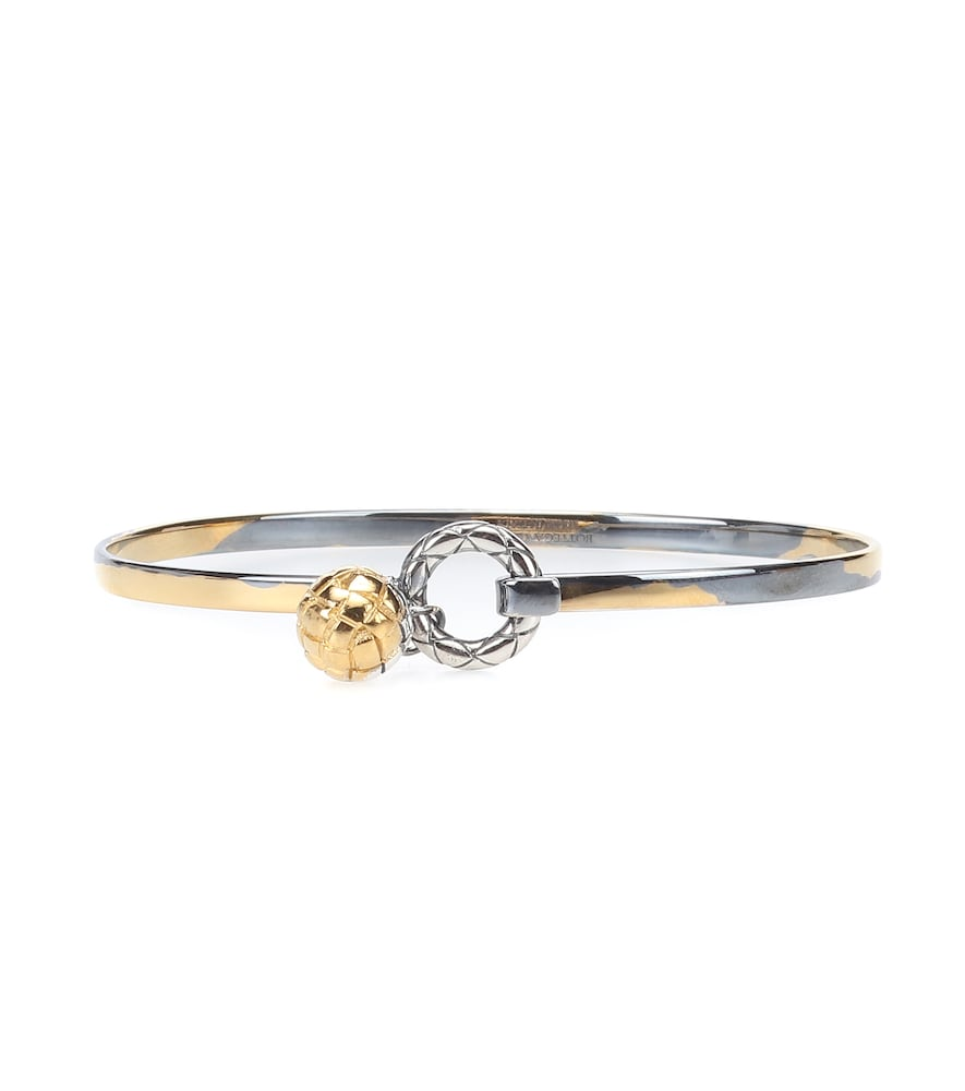 Dichotomy Gold-Tone Silver Bangle