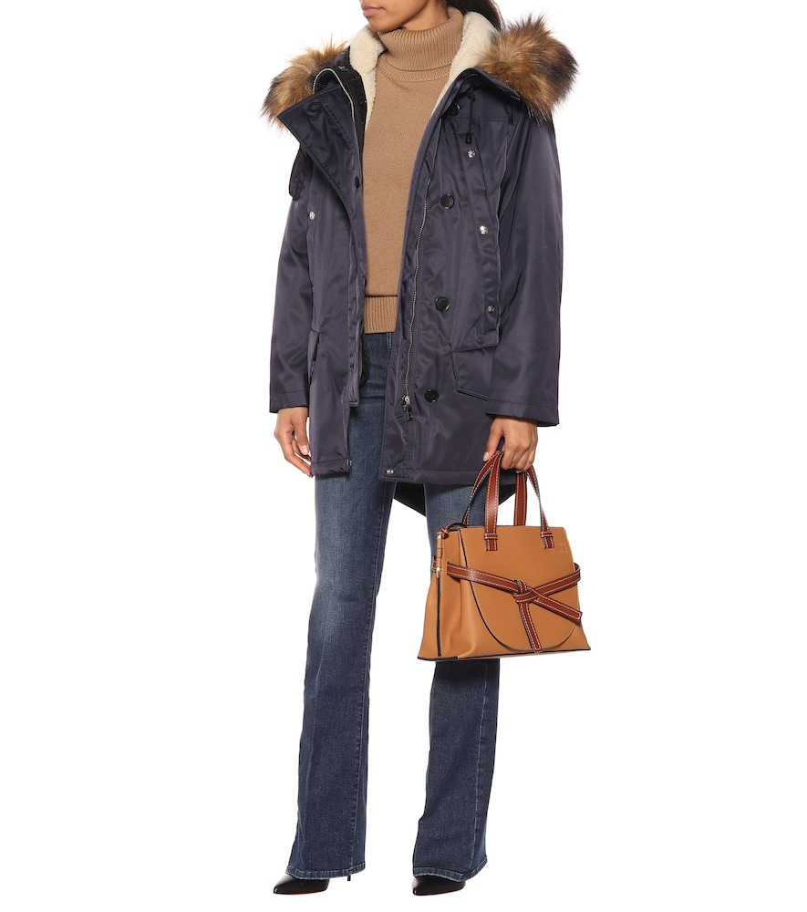 Faux fur-trimmed parka by Burberry