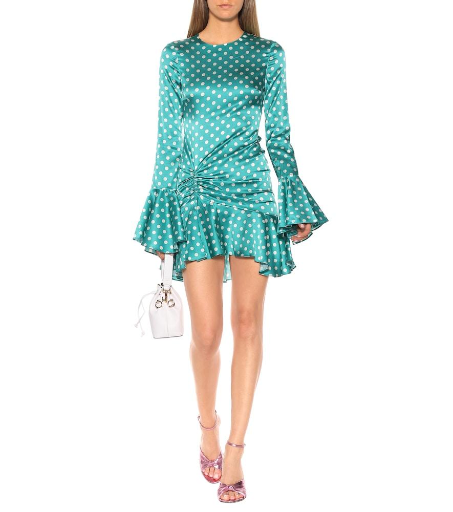Exclusive to Mytheresa - Monique polka-dot stretch-silk dress by Caroline Constas