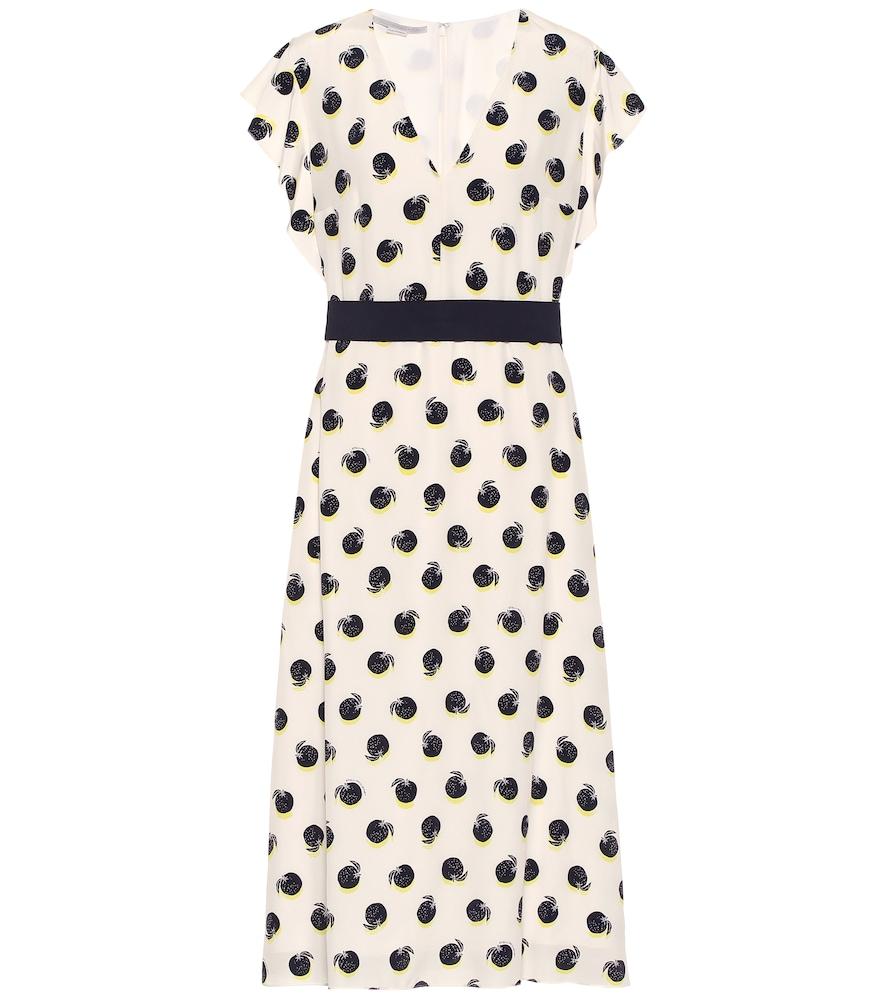 Silk cr?e de chine midi dress by Stella McCartney