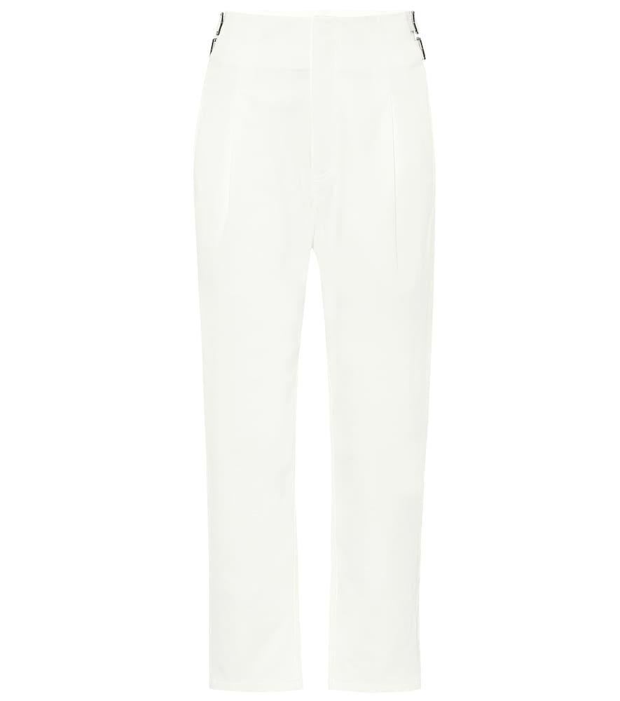 Pantalon Buckle en coton et lin mélangés à taille haute