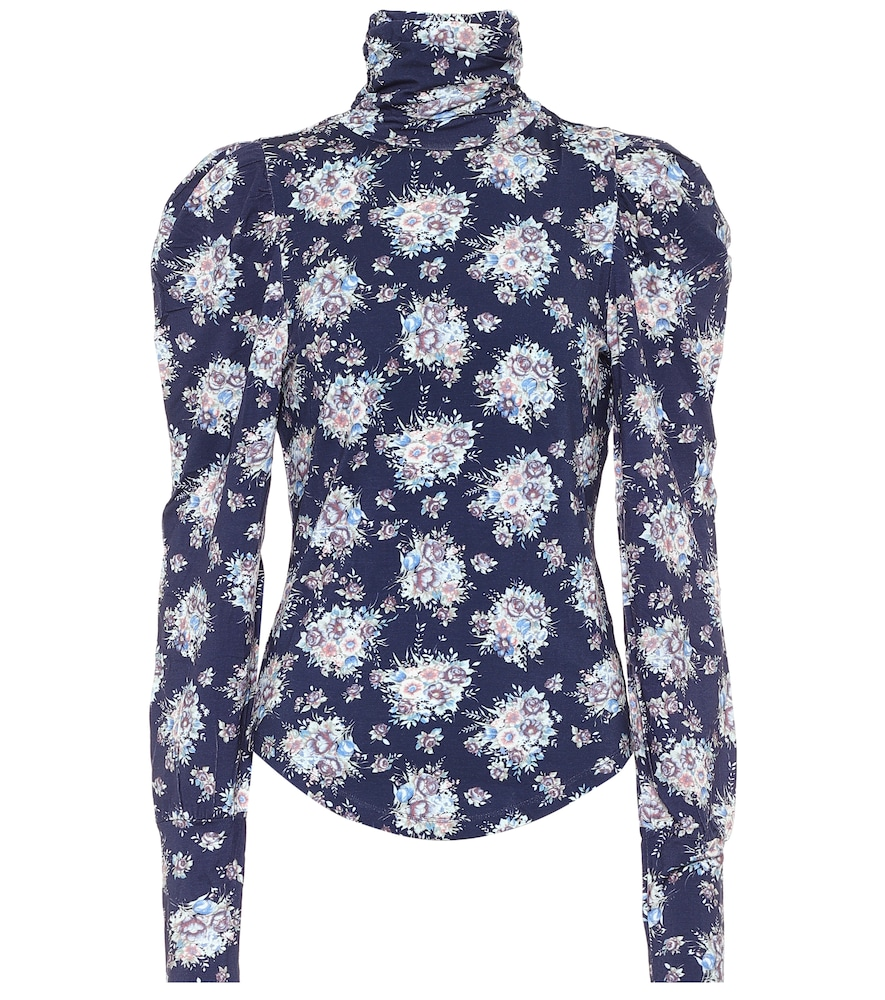 Loveshackfancy VIENNA FLORAL BLOUSE