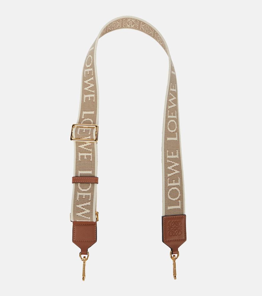 Anagram jacquard bag strap