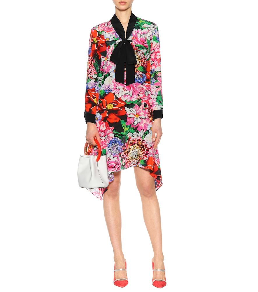 Hearts floral-printed silk dress by Mary Katrantzou