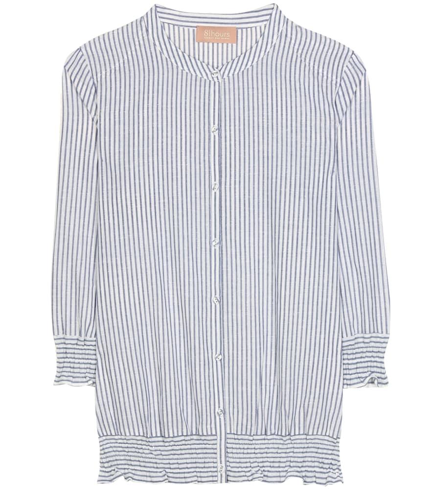 Flash cotton and linen shirt