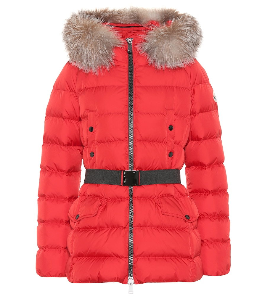 Clion quilted fur-trimmed down coat