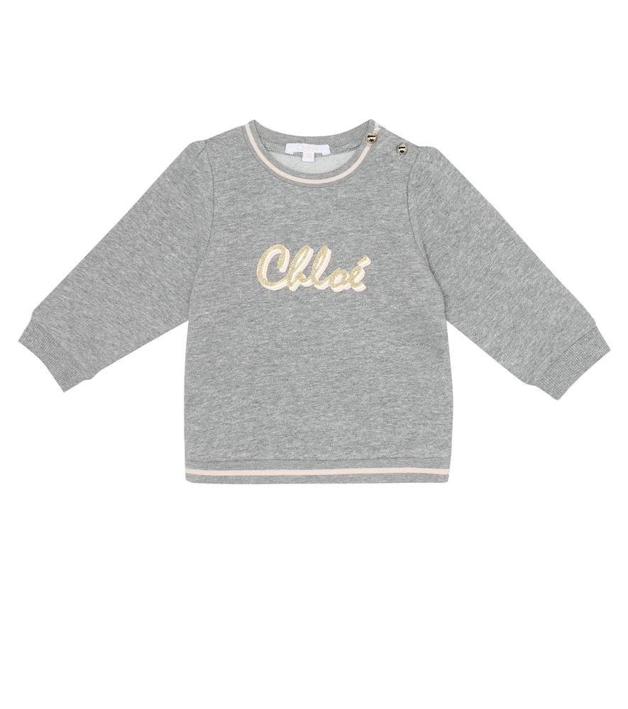 Chloé BABY LOGO COTTON-BLEND SWEATSHIRT