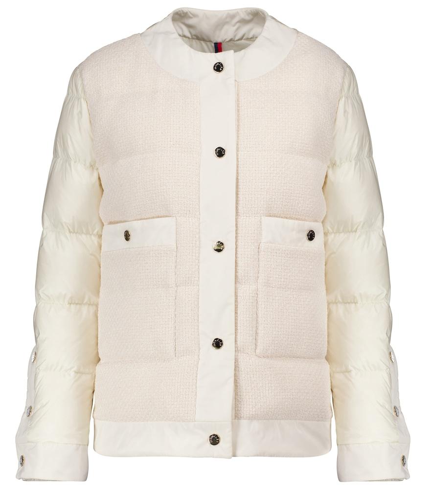 Miram cotton-trimmed down jacket