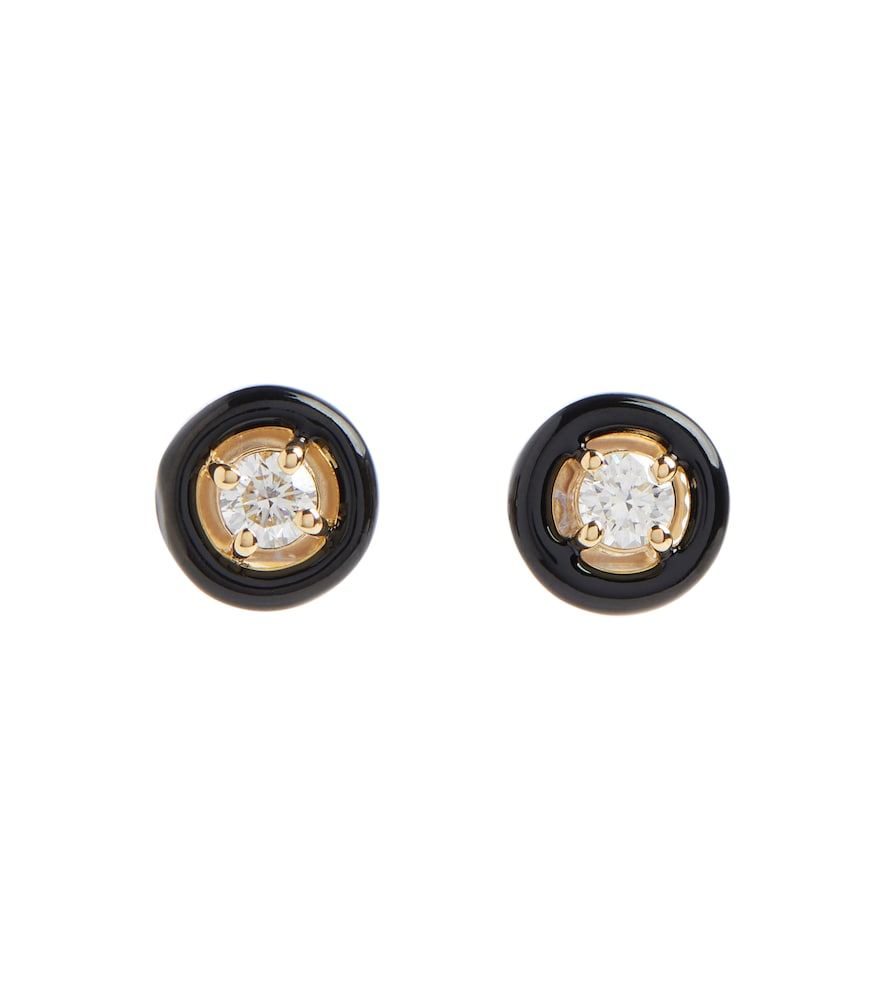 Sylvie 18kt gold stud earrings with diamonds