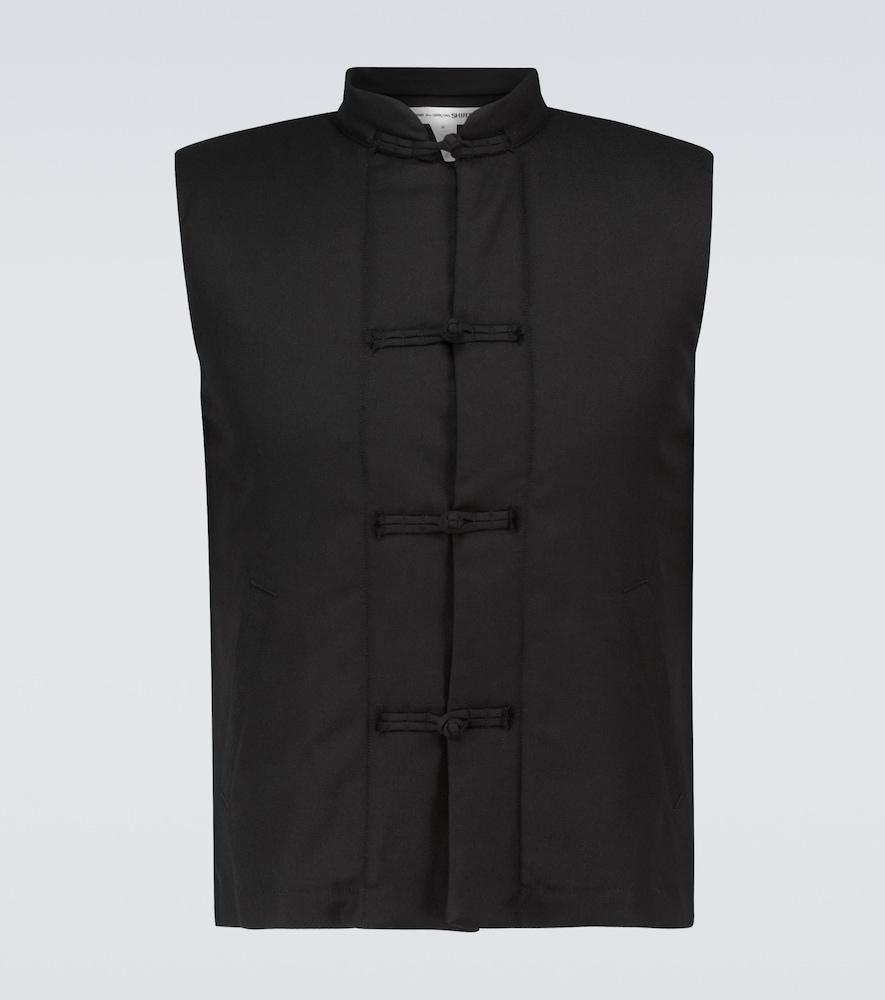 Single-breasted wool-blend vest