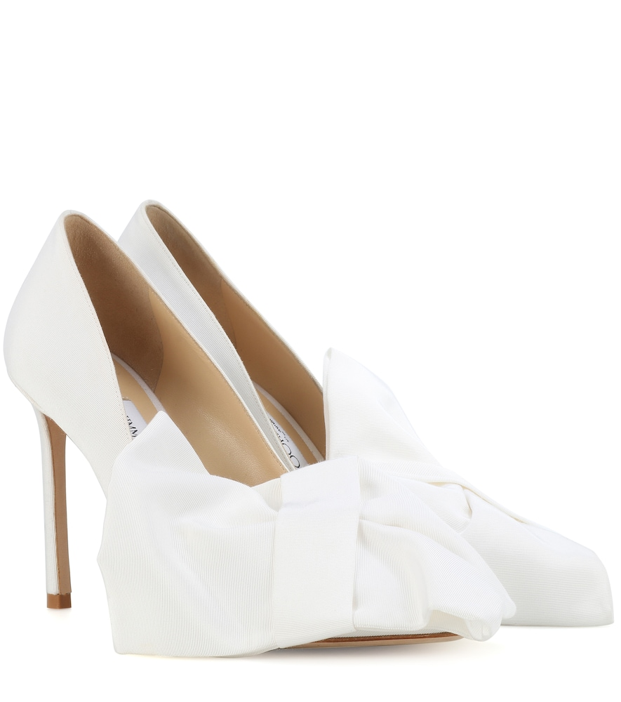 X Off-White Mary Bow 100 pumps