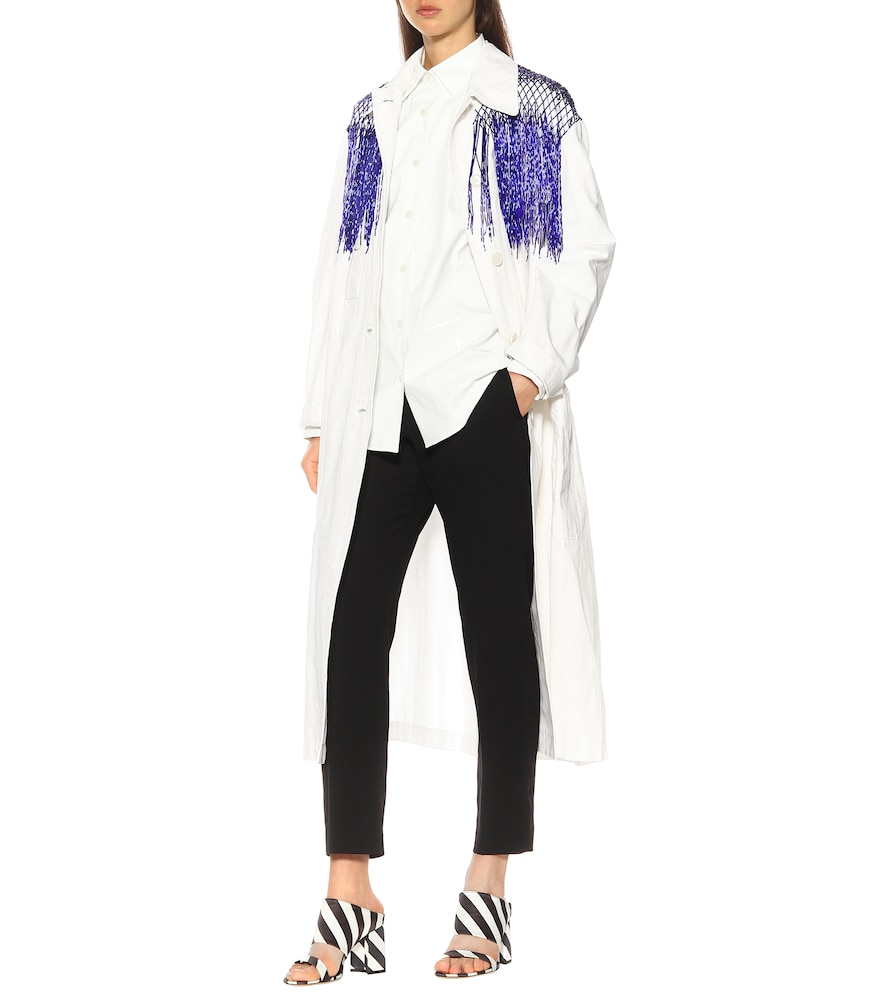Beaded cotton trench coat by Dries Van Noten