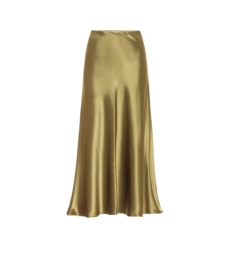 Valletta satin midi skirt