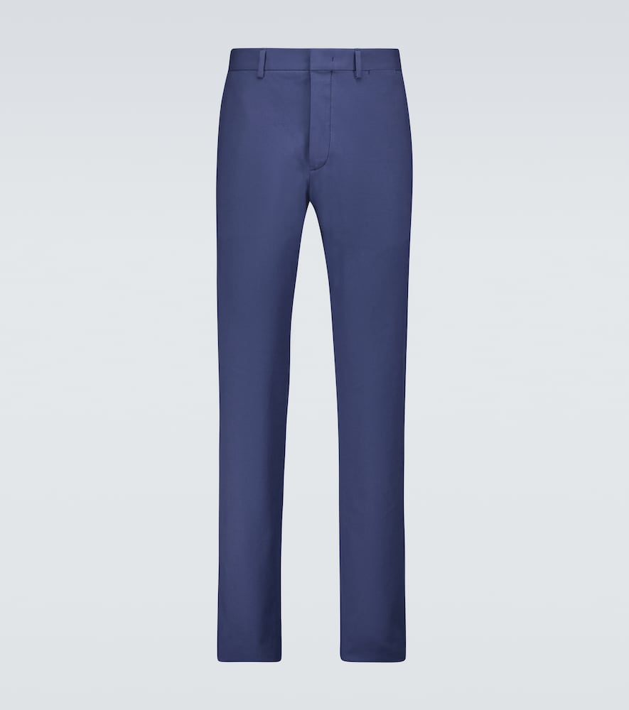 Stretch-cotton pants
