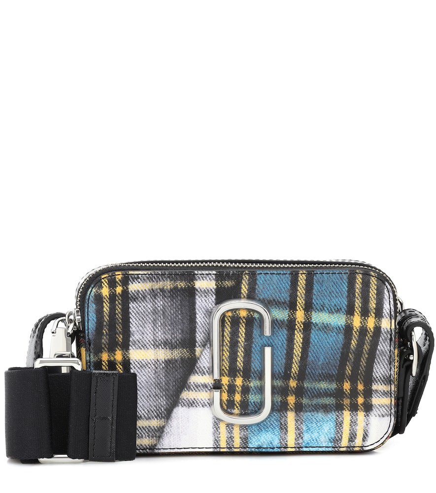 Marc Jacobs The Snapshot Tartan Leather Camera Bag In Multicoloured