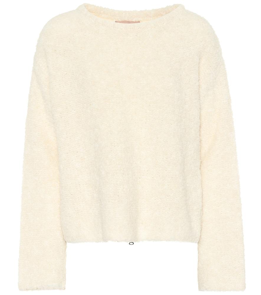 81 HOURS Eileen Wool-Blend Sweater in White
