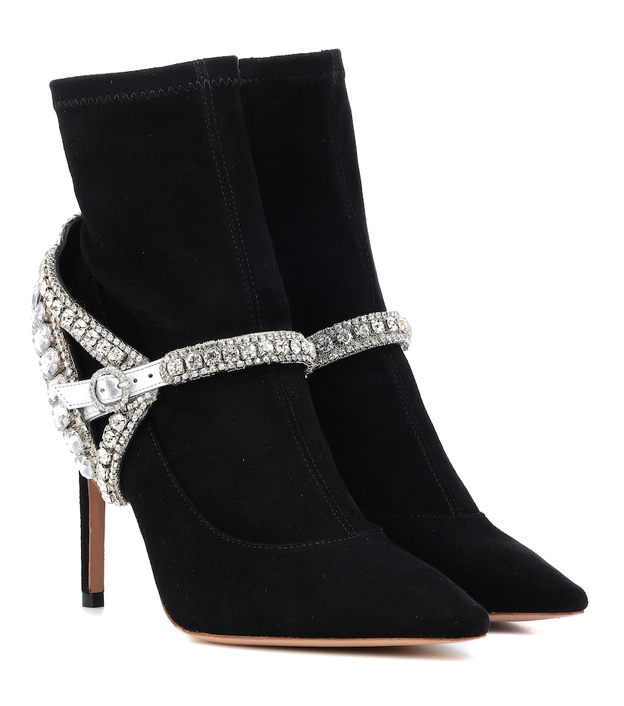 LORENA STRETCH-SUEDE ANKLE BOOTS from Mytheresa