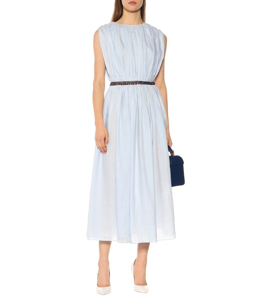 Cristina linen midi dress by Gabriela Hearst