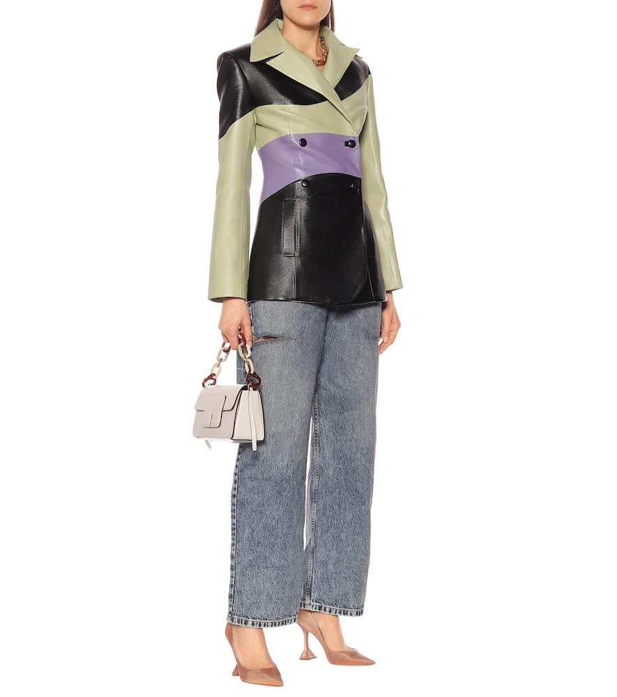 Ami 95 leather pumps by Amina Muaddi